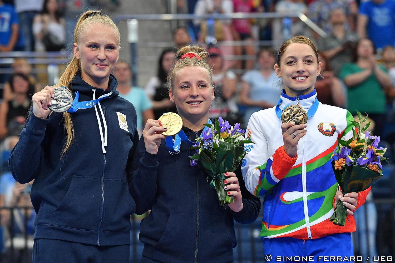 Luba Golovina, Lea Labrousse and Hanna Hancharova